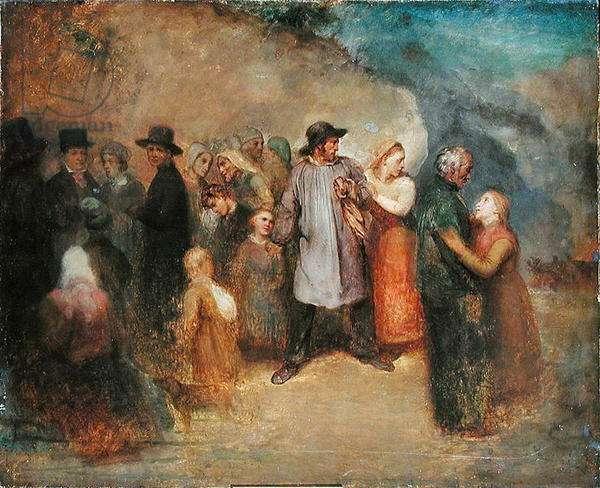 Scene of an Exodus, c.1858 (oil on canvas)