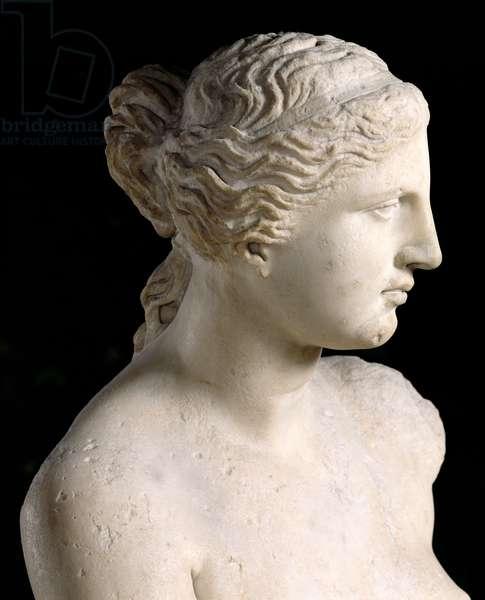 Venus de Milo, detail of the head, Hellenistic period, c.100 BC (marble)