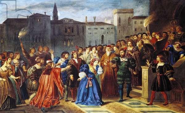 Scene of Confrontation, from 'Lucretia Borgia' by Victor Hugo