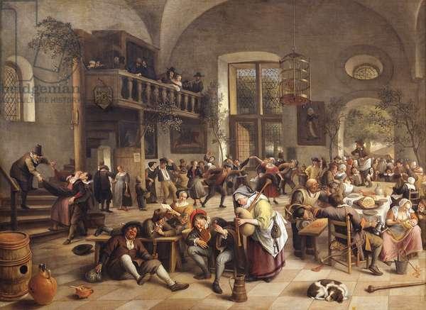 Feast in an Inn (oil on canvas)