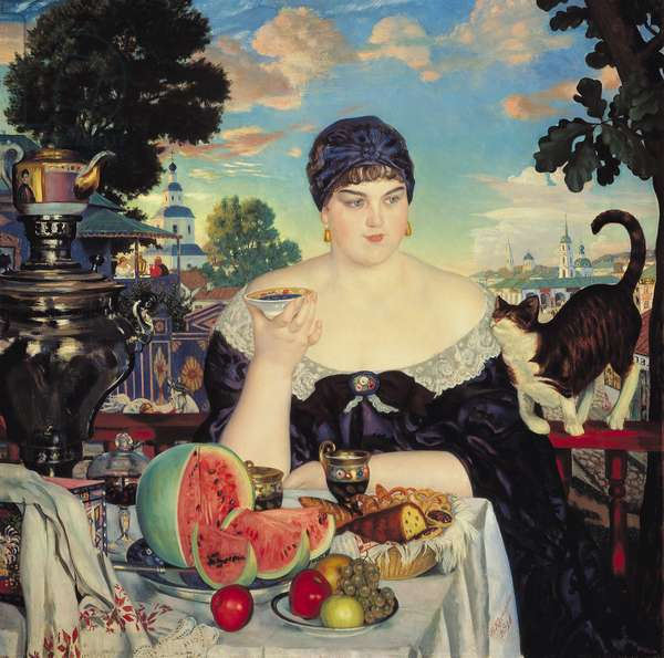 The Merchant's Wife at Tea, 1918 (oil on canvas)