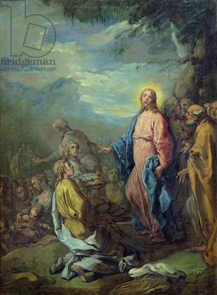 The Feeding of the Five Thousand, before 1733 (oil on canvas)