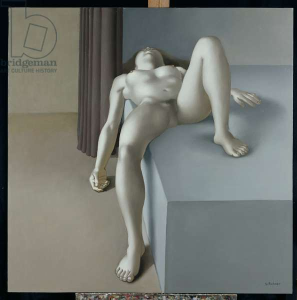 Nude with Spread Legs, 1981 (oil on canvas)