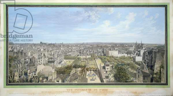 Panoramic View of Paris Towards the North, 1786 (w/c on paper)