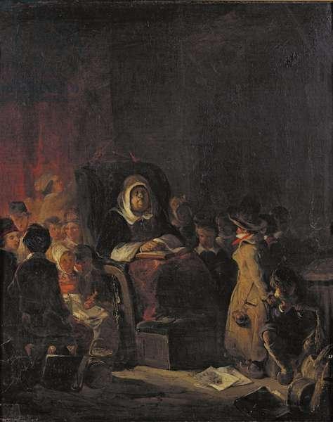 The Schoolmistress (oil on canvas)