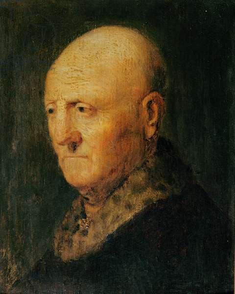 Portrait of an Old Man, known as Portrait of Hermann Gerritsz van Rijn, father of Rembrandt (oil on wood)