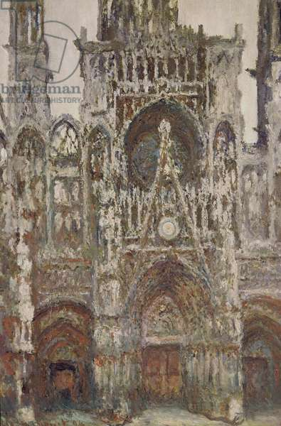 Rouen Cathedral, evening, harmony in brown, 1894 (oil on canvas)
