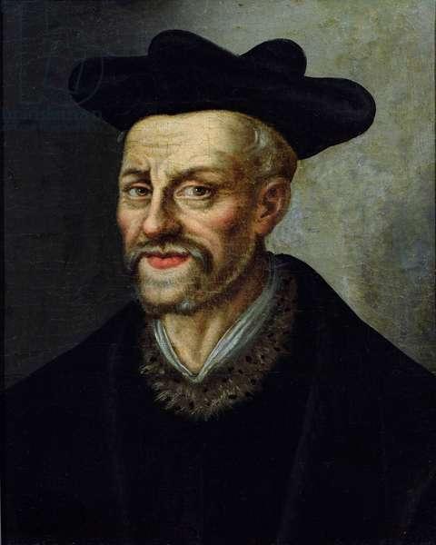 Portrait of Francois Rabelais (c.1494-1553) (oil on canvas)