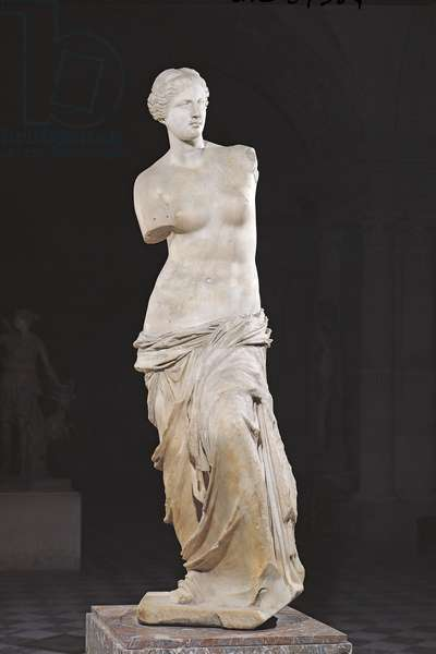 Aphrodite, the 'Venus de Milo', Hellenistic period, c.130-100 BC (marble)