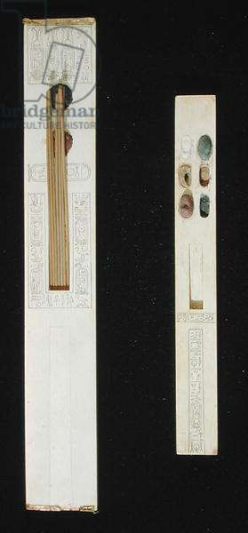 Two palettes, from the Tomb of Tutankhamun, Valley of the Kings, New Kingdom, c.1353-1327 BC (ivory)