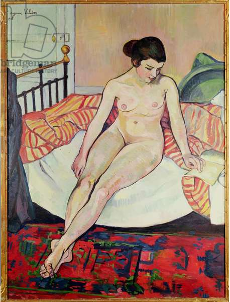 Nude with a Striped Blanket, 1922 (oil on canvas)