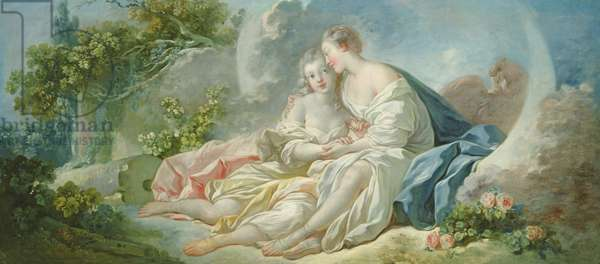 Jupiter disguised as Diana tries to seduce Callisto, c.1753 (oil on canvas)