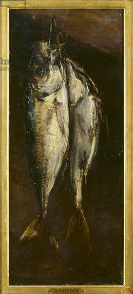 Fish (oil on panel)