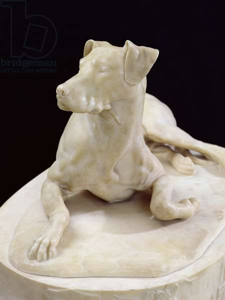 A Dog, 1827 (marble) (see also 223451)