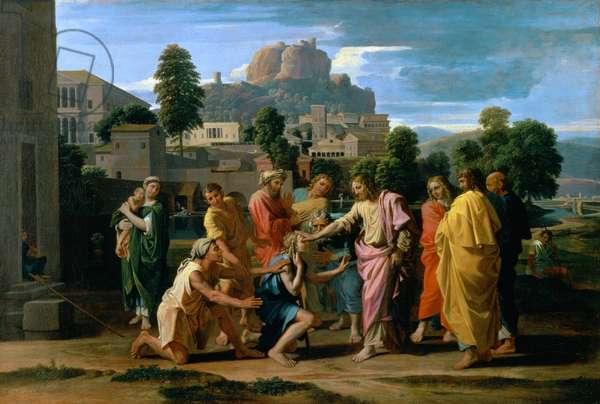 The Blind of Jericho, or Christ Healing the Blind, 1650 (oil on canvas)