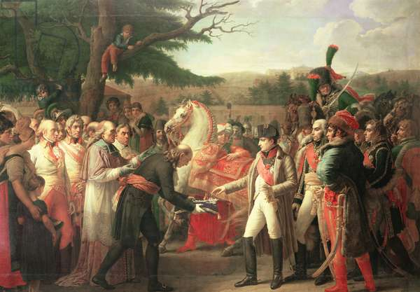 Napoleon Bonaparte (1769-1821) Receiving the Keys of Vienna at the Schloss Schonbrunn, 13th November 1805, 1808 (oil on canvas)