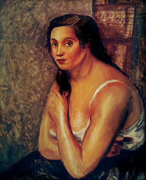 Woman in a Vest, c.1920 (oil on canvas)