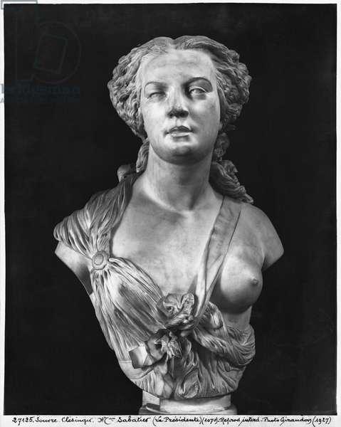 Madame Aglae Sabatier, known as Apollonie Sabatier, 1847 (marble)
