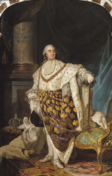 Louis XVI (1754-93) in Coronation Robes, after 1774 (oil on canvas)