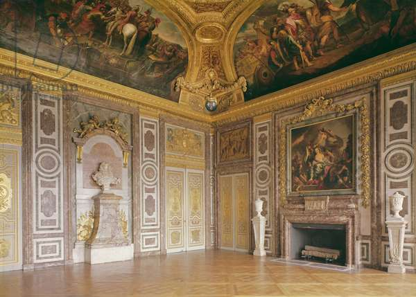Interior View of The Château of Versailles (the salon of Diane), 1672-82
