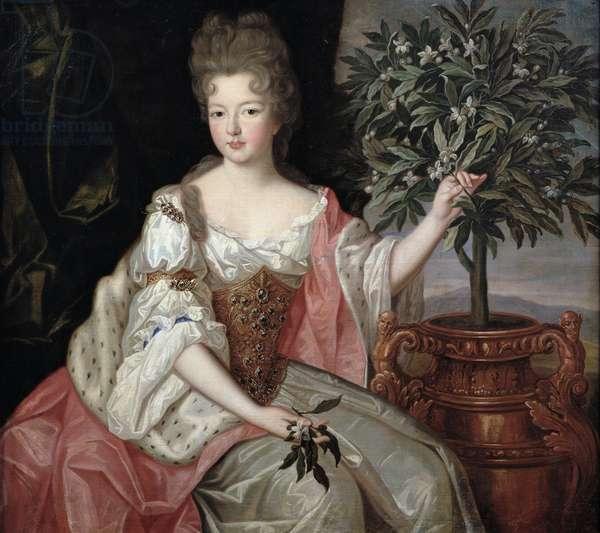 Portrait of Francoise Marie de Bourbon (1677-1749) Duchess of Orleans (Mademoiselle de Blois) (oil on canvas)