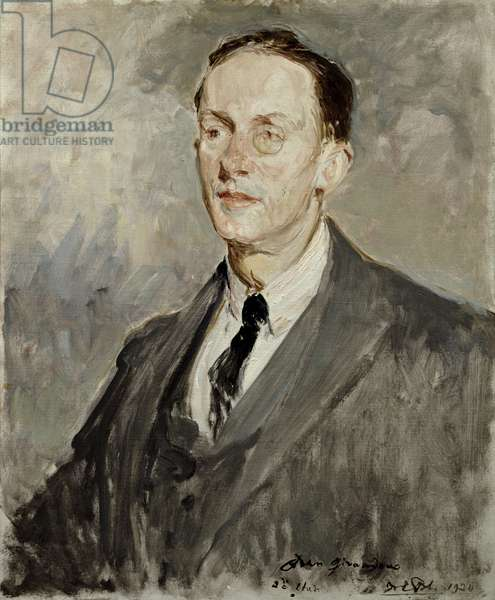 Portrait of Jean Giraudoux (1882-1944) 1924 (oil on canvas)