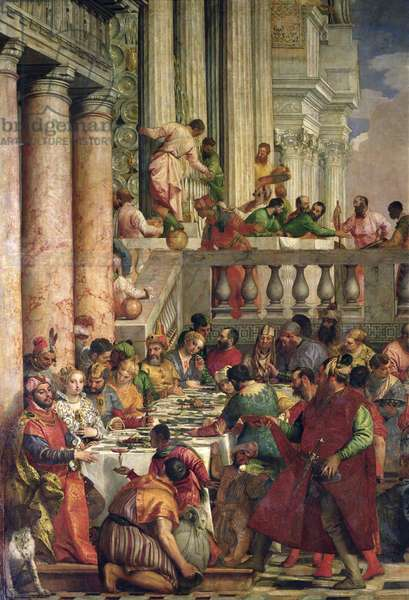 The Marriage Feast at Cana, detail of the left hand side, c.1562 (oil on canvas)