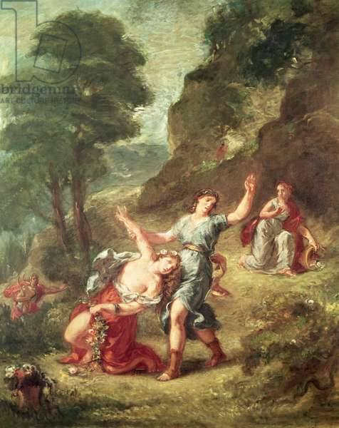 Orpheus and Eurydice, Spring from a series of the Four Seasons, 1862 (oil on canvas)