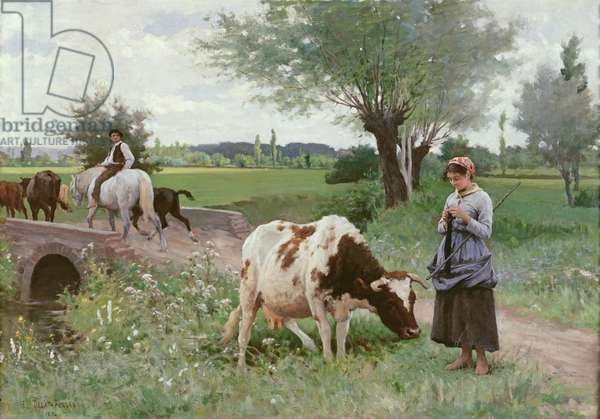 The Well Kept Cow, 1890 (oil on canvas)