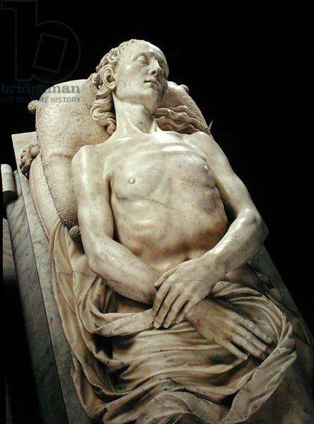 Effigy of Claude de France (1499-1524) from the Tomb of Francois I and Claude de France (marble)