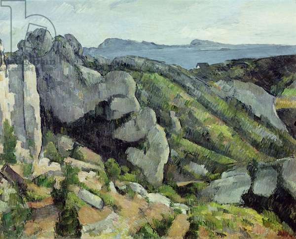 Rocks at L'Estaque, 1879-82 (oil on canvas)
