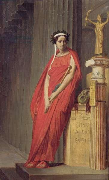 Mademoiselle Rachel (1821-58) (oil on canvas)