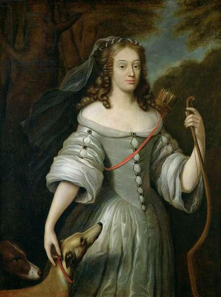 Portrait of Francoise Louise de la Baume le Blanc (1644-1710) Duchesse de Vaujour, also known as Mademoiselle de la Valliere (oil on canvas)