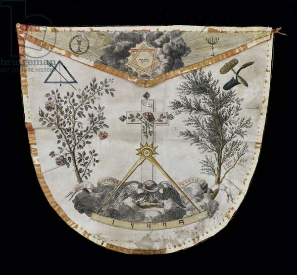 Apron of a Master of the Order of the Rose-Croix (leather)