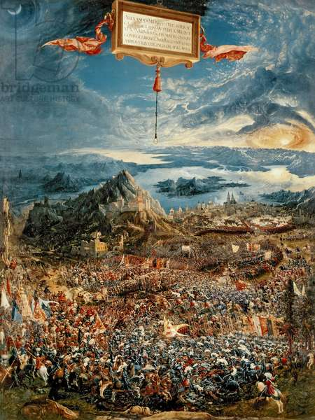 The Battle of Issus, or The Victory of Alexander the Great, 1529 (oil on panel)