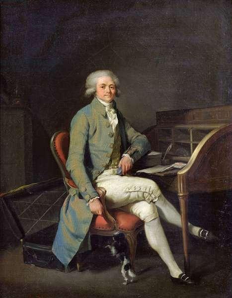 Maximilien de Robespierre (1758-94) (oil on canvas)