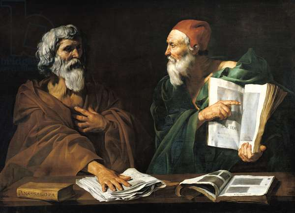 The Philosophers (oil on canvas)