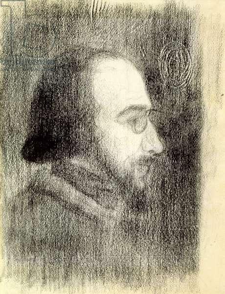 Erik Satie (1866-1925) c.1886 (crayon on paper)