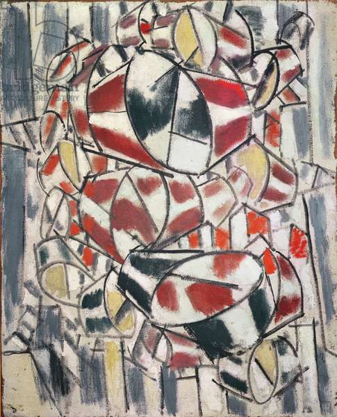 Contrasting Forms, 1913 (oil on canvas)