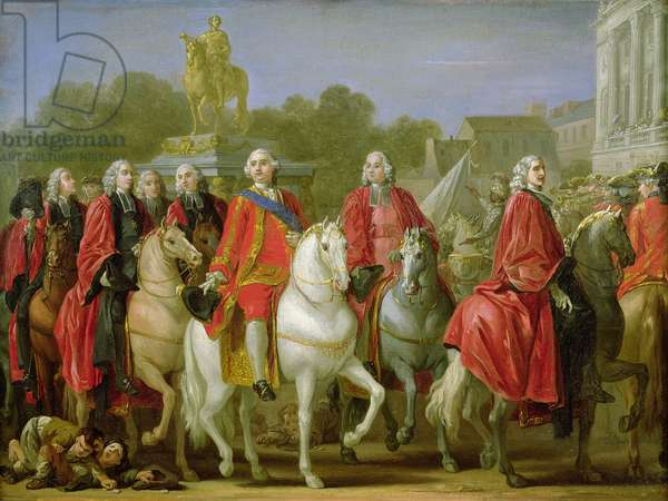 Inauguration of the Place Louis XV, 20th June 1763 (oil on canvas)
