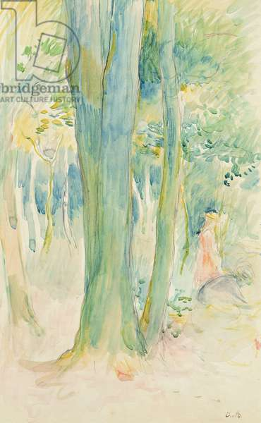Under the trees in the wood, 1893 (w/c on paper)