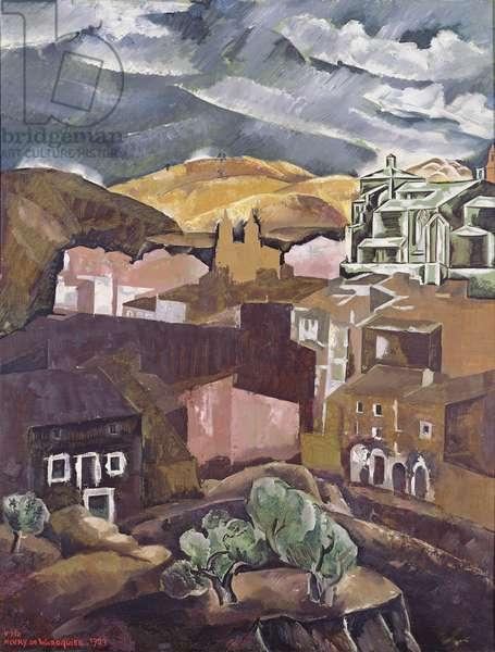 Storm at Estella, Navarre, 1927 (oil on canvas)