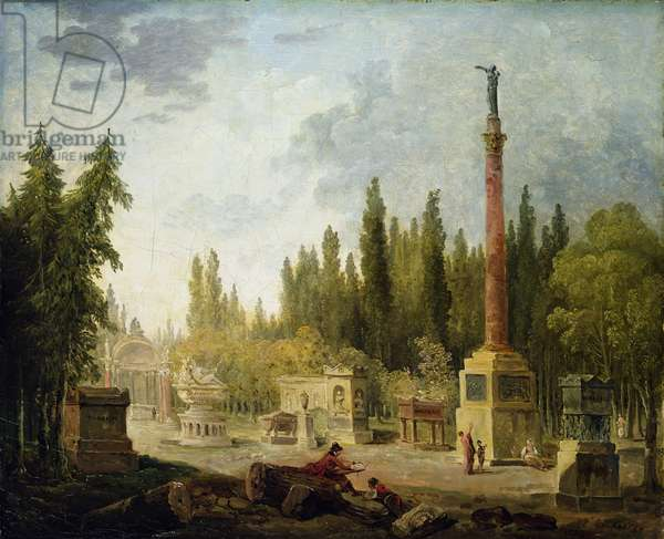 The Garden of the Musee des Monuments Francais, 1795-1808 (oil on canvas)