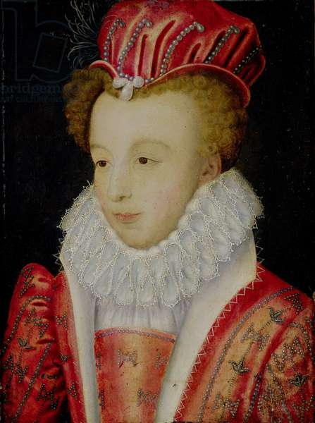 Marguerite de Valois (1553-1615) c.1572 (oil on panel)