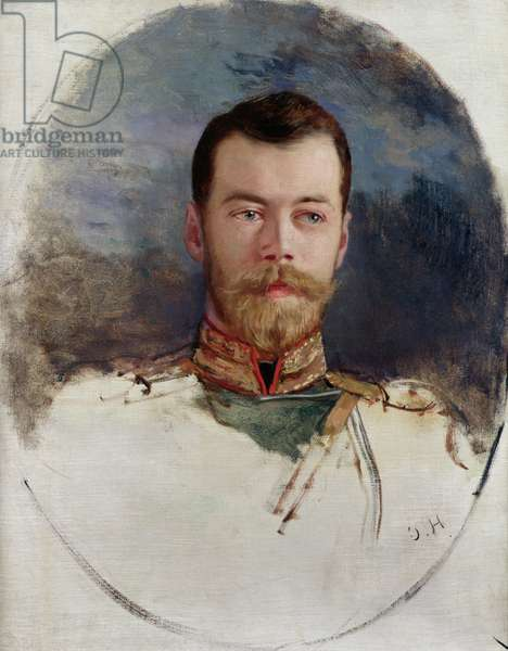 Study for a portrait of Tsar Nicholas II (1868-1918) 1898 (oil on canvas)