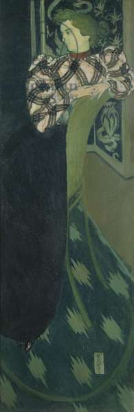 Portrait of Madame Ranson in green, 1893 (oil on canvas)