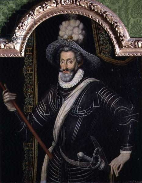 Portrait of Henri IV, King of France and of Navarre (1553-1610) c.1595 (panel)