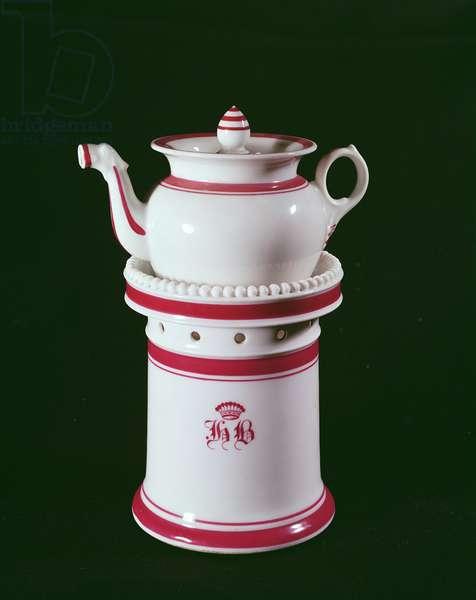 Cafetiere belonging to Honore de Balzac (1799-1850) (porcelain)