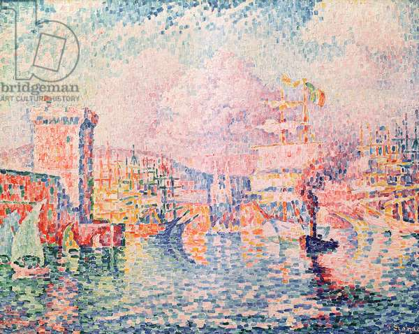 The Red Tower (entrance of the Port of Marseille), 1913 (oil on canvas)