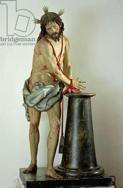 The Flagellation of Christ (polychrome wood)